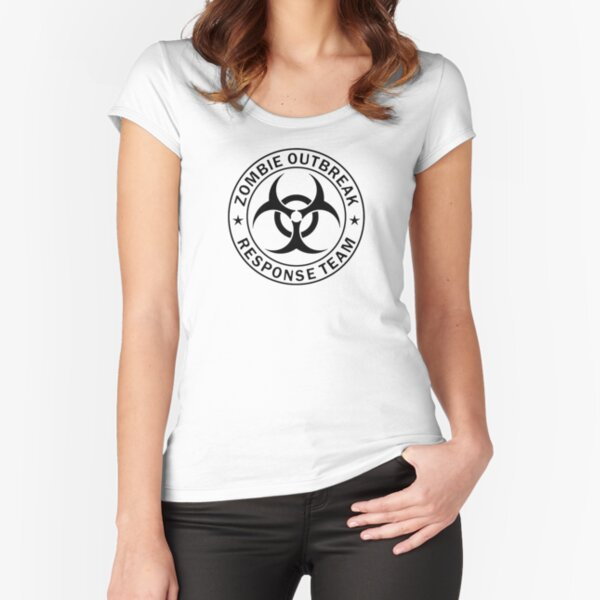 ZOMBIE RESPONSE TEAM  Fitted Scoop T-Shirt