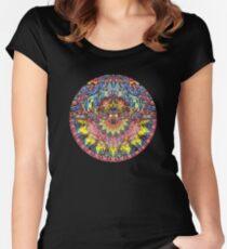 Glühentanz Tailliertes Rundhals-Shirt