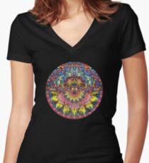 Incandescent Dance Women's Fitted V-Neck T-Shirt