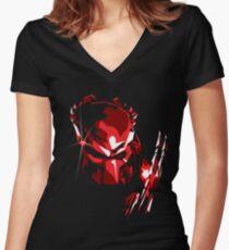 Predator Vector Art Women's Fitted V-Neck T-Shirt
