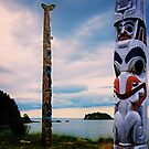 totem poles of Haida Gwaii by Yukondick