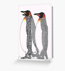 Little Men In Black Suits Greeting Card