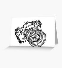 Vintage 35mm SLR Camera Design Greeting Card