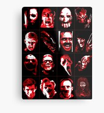 Horror Movie Icons Vector Art Metal Print