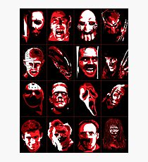 Horror Movie Icons Vector Art Photographic Print