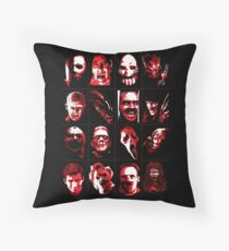 Horror Movie Icons Vector Art Throw Pillow
