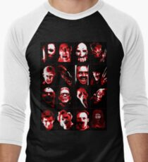 Horror Movie Icons Vector Art Men's Baseball ¾ T-Shirt