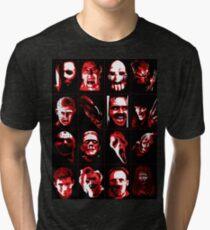 Horror Movie Icons Vector Art Tri-blend T-Shirt