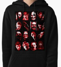 Horror Movie Icons Vector Art Pullover Hoodie