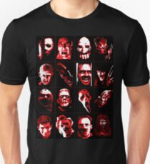 Horror Movie Icons Vector Art T-Shirt