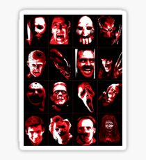Horror Movie Icons Vector Art Sticker
