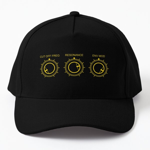 Synthesizer filter controls for Electronic Musician Baseball Cap