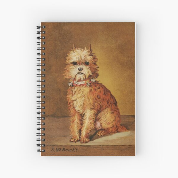 Brussels griffon vintage print of Coquette Spiral Notebook