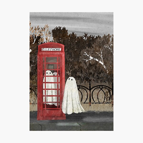 There Are Ghosts in the Phone Box Again... Photographic Print