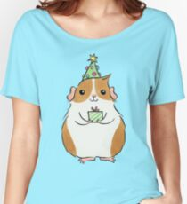 Cute Fluffy Christmas Guinea-pig Women's Relaxed Fit T-Shirt