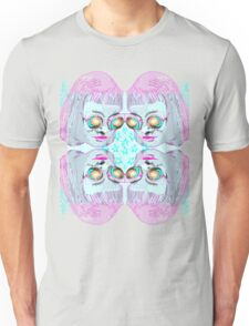 Space Girl Collage Cyan Unisex T-Shirt