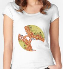 cipher n. 3  (original sold) Women's Fitted Scoop T-Shirt