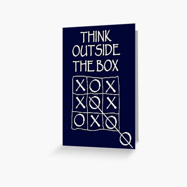 THINK. Fun, Funny, Comic, Joke, Laugh; Think outside the box. Greeting Card