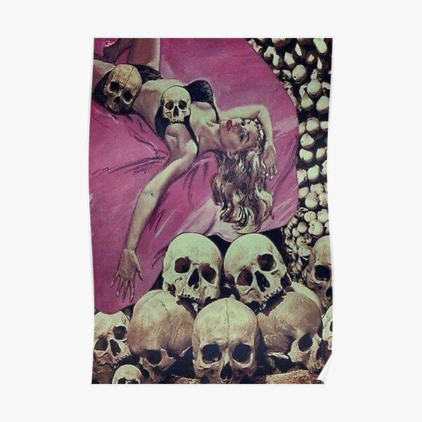 SKELETON HORROR RETRO VINTAGE POP Poster