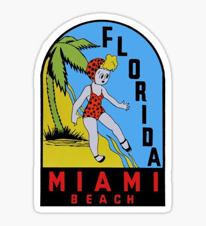 Miami Beach Florida Vintage Travel Decal Sticker