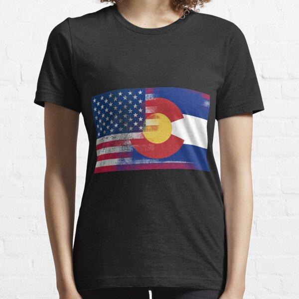 Colorado American Flag Fusion Essential T-Shirt