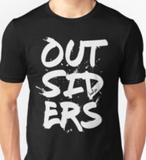 Outsiders - White Text Unisex T-Shirt