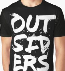 Outsiders - White Text Graphic T-Shirt
