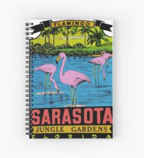Sarasota Jungle Gardens Florida Vintage Travel Decal Spiral Notebook