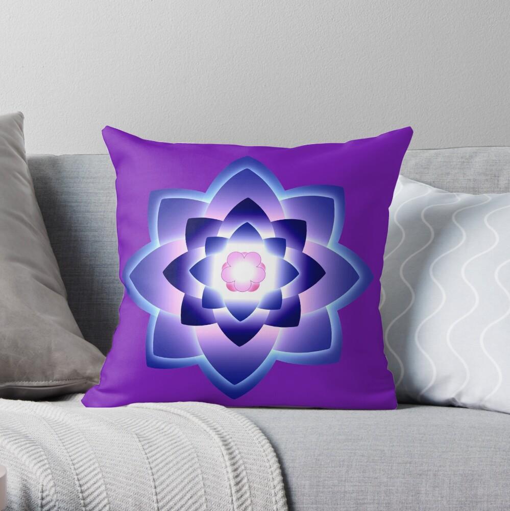 Starlight Mandala Series 4 Throw Pillow