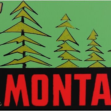 Montana MT State Vintage Travel Decal de hilda74