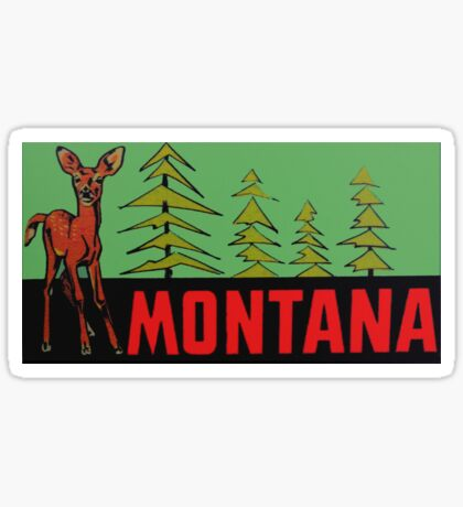 Montana MT State Vintage Travel Decal Sticker