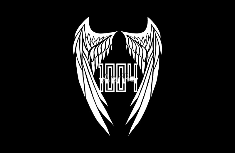 """BAP LOGO 1004 Angel Wings"" Laptop Skins by Aprilio ... Bap 1004 Album Cover"