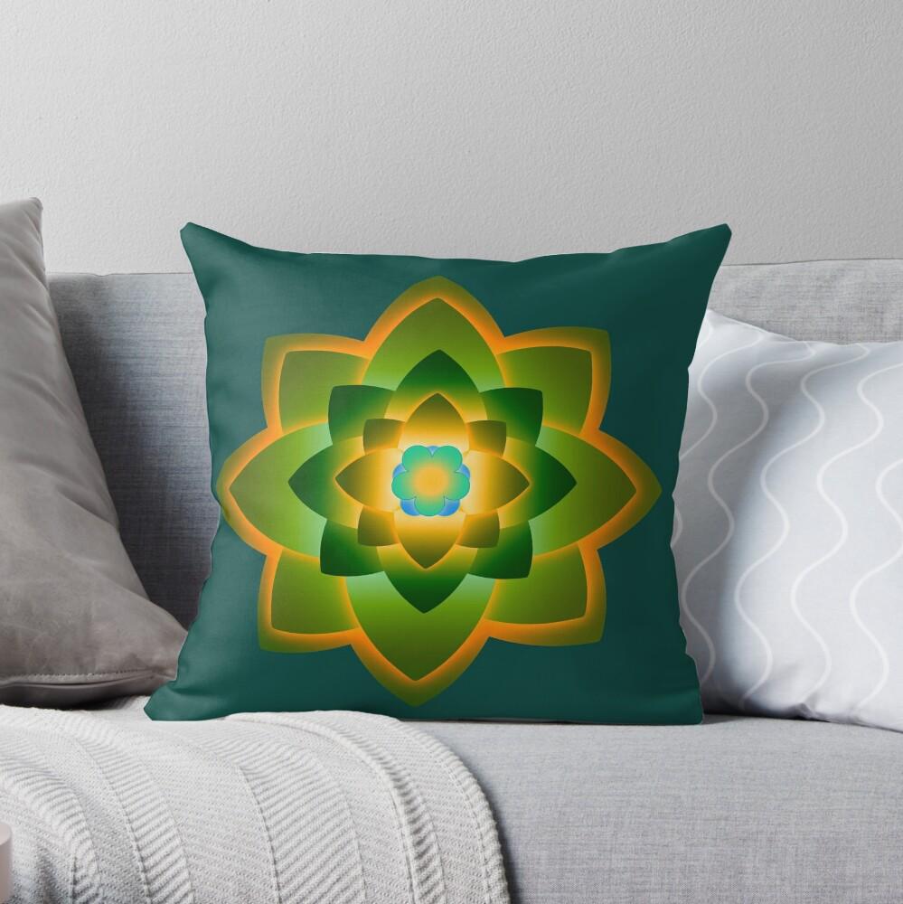 Starlight Mandala Series 1 Throw Pillow