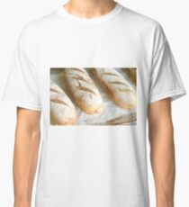 Freshly baked bread in a bakery  Classic T-Shirt