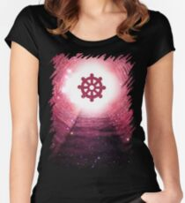 Buddhism (Wheel of Dharma) Women's Fitted Scoop T-Shirt