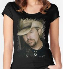 Toby Keith - Celebrity (Oil Paint Art) Women's Fitted Scoop T-Shirt