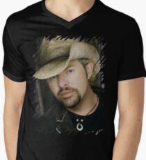 Toby Keith - Celebrity (Oil Paint Art) Men's V-Neck T-Shirt