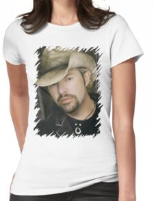 Toby Keith - Celebrity (Oil Paint Art) Womens Fitted T-Shirt