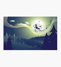 Flying Witch in the Woods Photographic Print