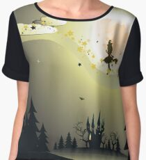 Flying Witch in the Woods2 Chiffon Top