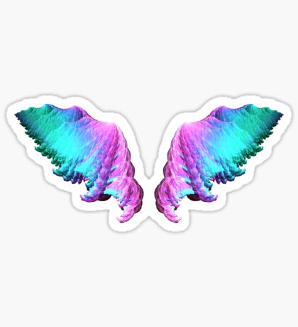 Wings #fractal art Sticker