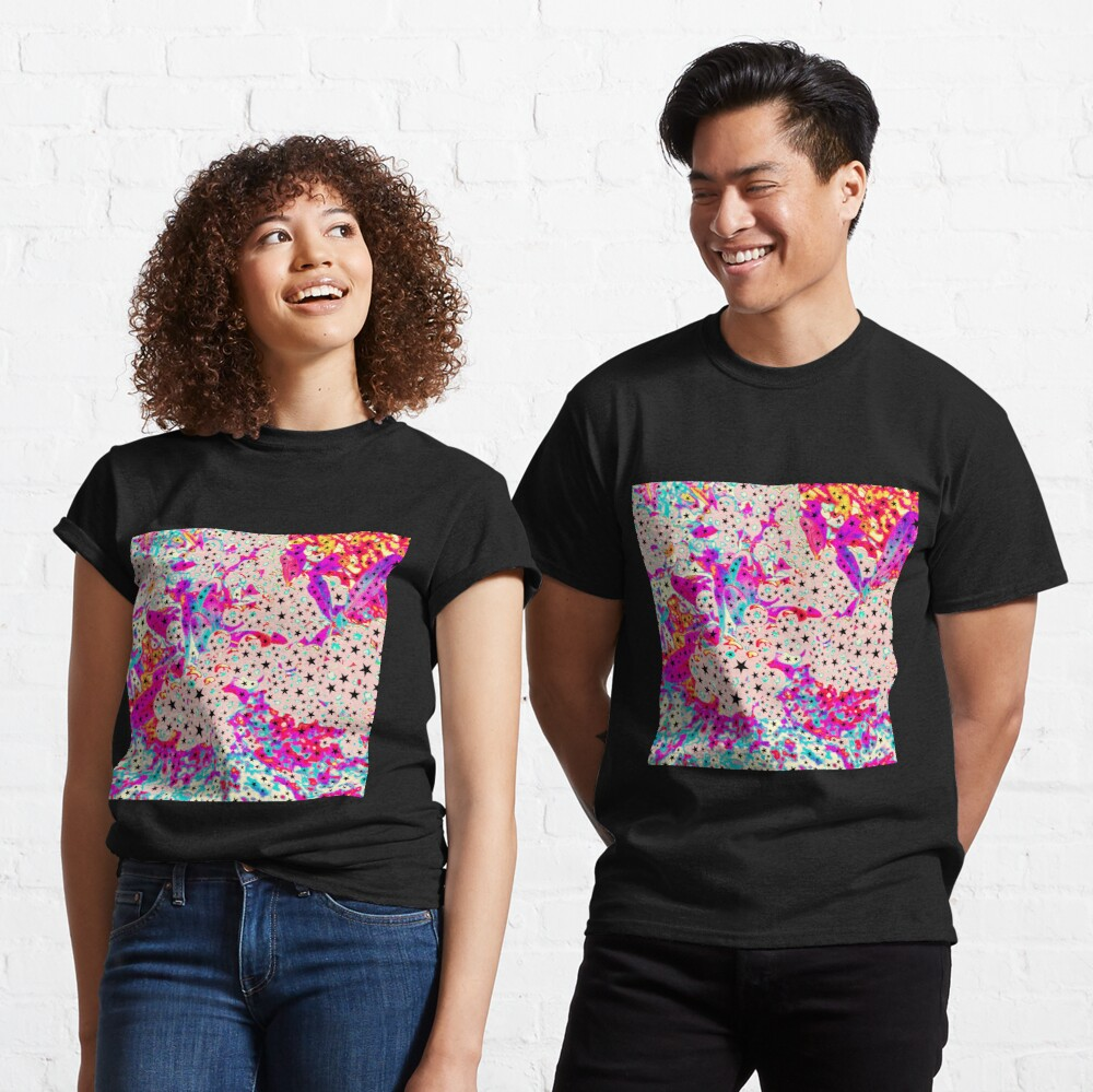 Starry and Sweet - Galactic Stars Neon Art Classic T-Shirt