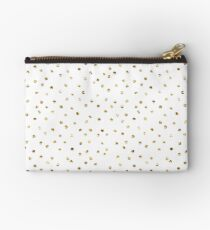 Gold foil polka dot pattern. Studio Pouch