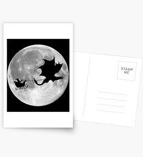 Santa Claus Dragon Rider Sleigh Ride Postcards