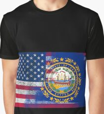 New Hampshire American Flag Graphic T-Shirt