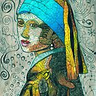 "Inspired by Vermeer's Painting of ""The Girl with the Pearl Earring"" by BCallahan"