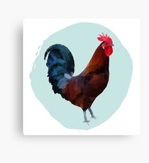 Polygonal illustration of a sicilian buttercup rooster Canvas Print