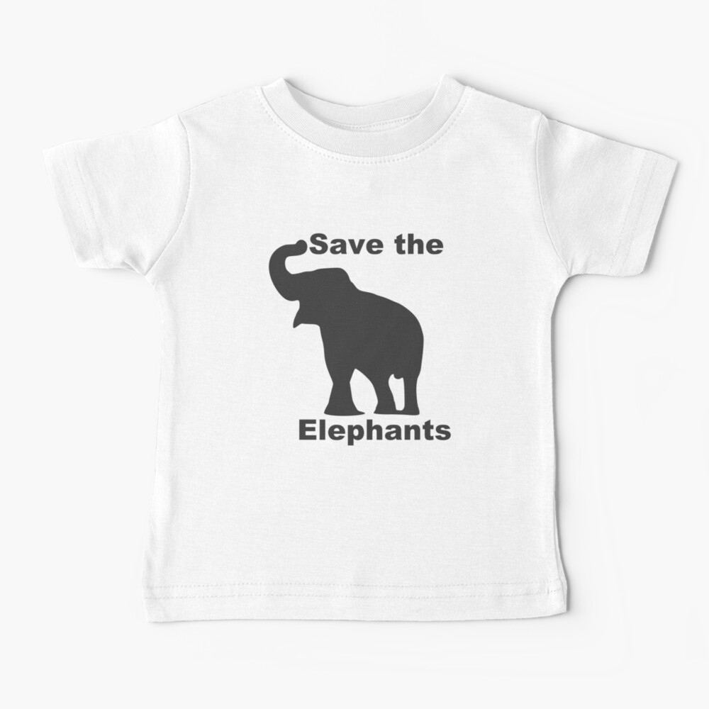 Save the Elephants Baby T-Shirt