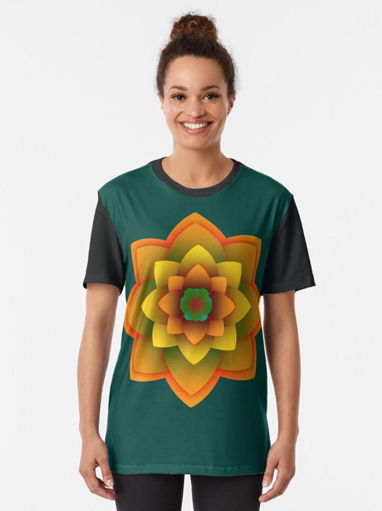 Alternate view of Starlight Mandala Series  Graphic T-Shirt