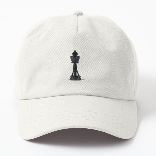 Black wooden king's chess piece Dad Hat
